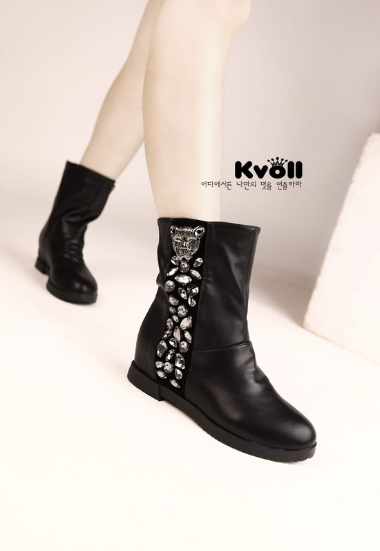 wholesale Leather boots rhinestone generous fashion girls shoes X57221