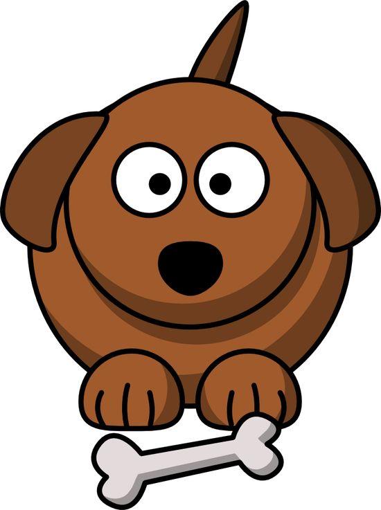 Cute Cartoon Dog graphic - more free clip art at @OnlineLabels.com