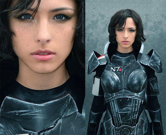 Mass Effect female Shepard cosplay