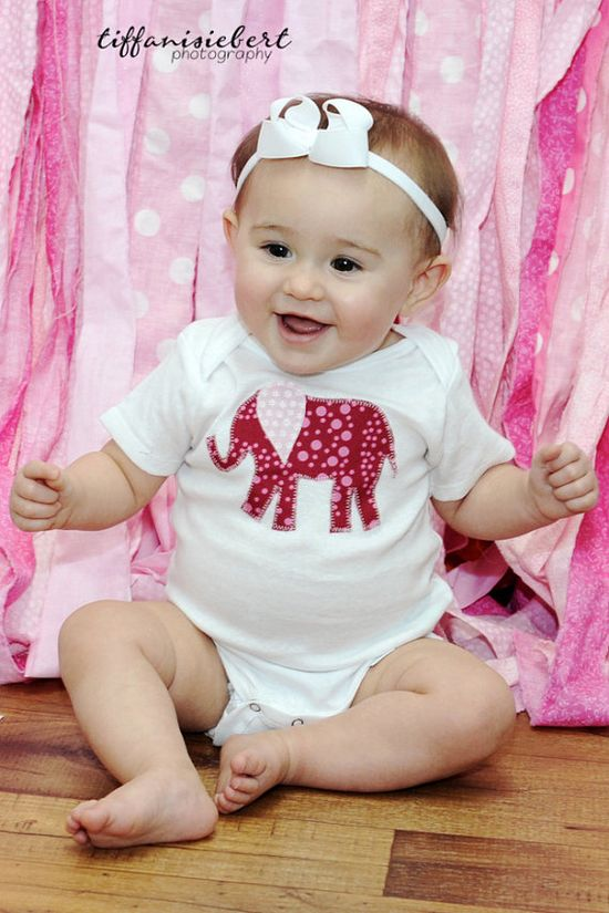 Elephant Onesie Girls clothes Baby Clothes by aHouseintheWoods, $8.00