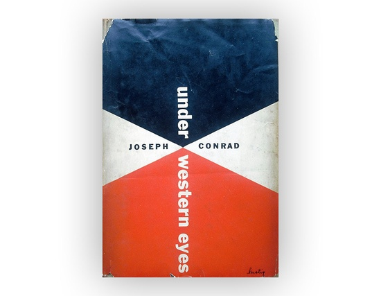"Alvin Lustig book jacket design, 1951. ""Under Western Eyes"" by Joseph Conrad."