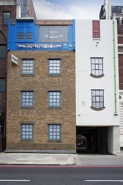 Miner on the Moon by Alex Chinneck is an upside-down building in London
