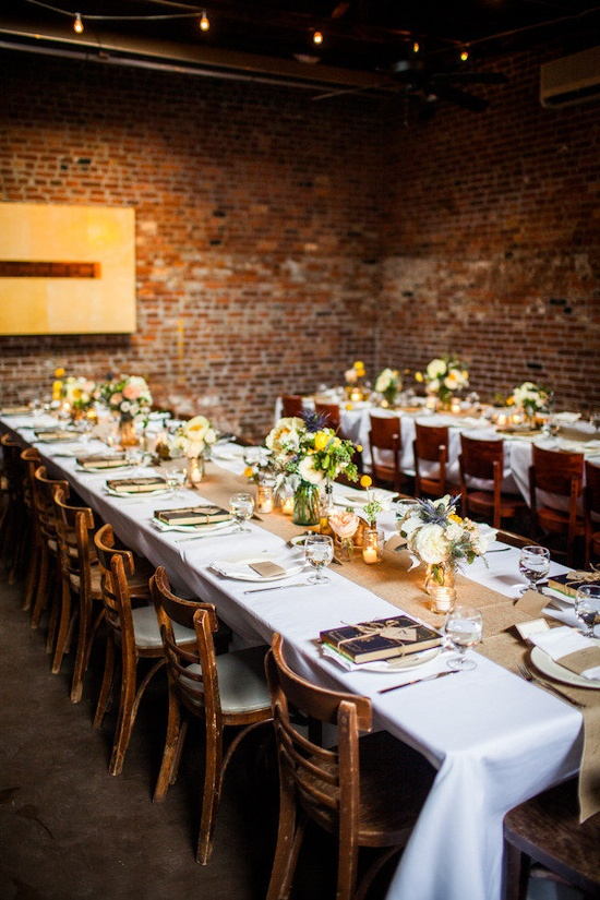 a cozy restaurant reception at www.frankiesspunt...  Photography by laurengabrielle.com, Floral Design by bourgeonbk.com