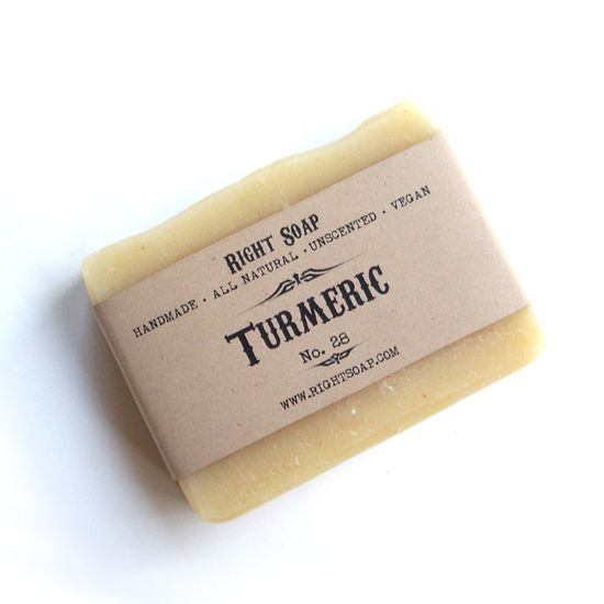 Turmeric soap - Unscented soap, Vegan soap. $6.00, via Etsy.