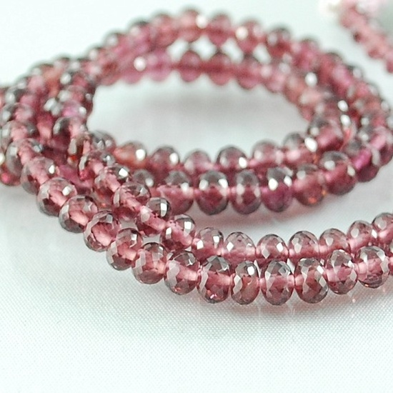 Rubilite Garnet Gemstone Beads Rondelles AAA  by lovelylittlegems, $34.00