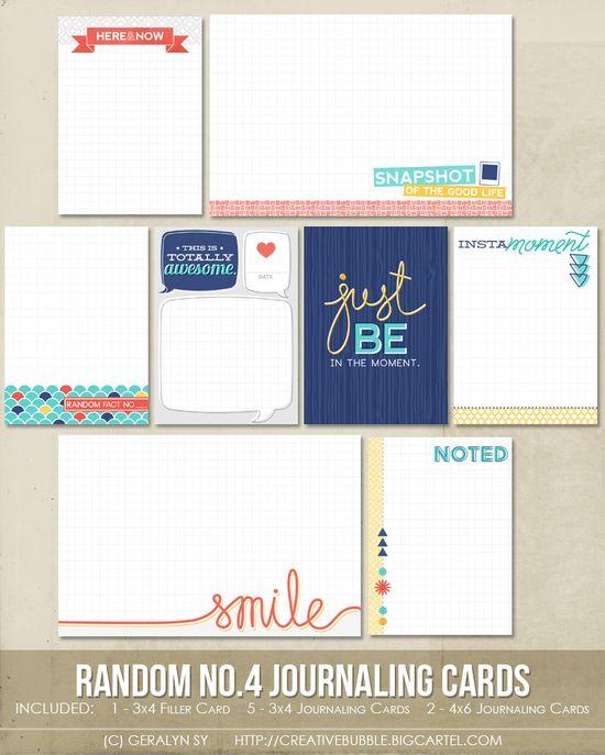 Random no.4 Journaling Cards (Digital)