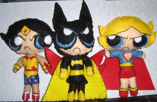 Powerpuff Girls DC Superhero Handmade Plushie