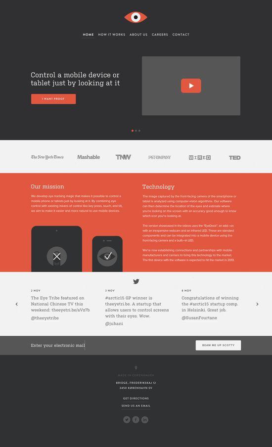 Beautiful Flat UI Website Design by Mads Burcharth