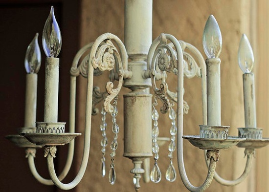 Shabby Chic Chandelier - For my bedroom!