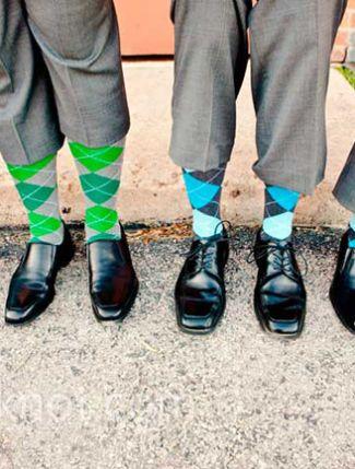 10 Grooms & Their Socks!