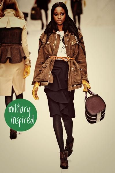 fall trend - military inspired