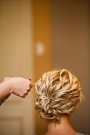 """Cute """"curly up-do."""" So cute, I wish I could do it to my hair."""