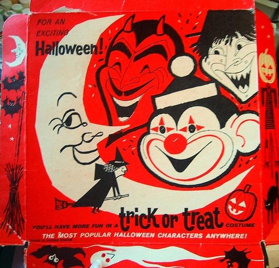 Vintage Halloween costume box