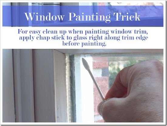tape free trick for painting around windows