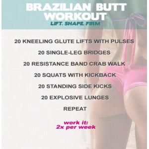 Brazilian Butt Workout - Exercises to tone butt