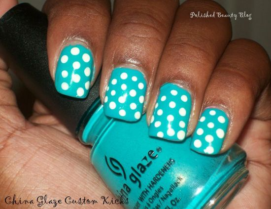 I'm really loving dots right now   47 Amazing Retro Nails Design