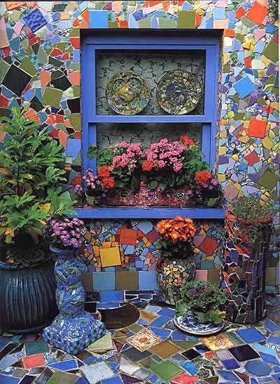 Kaffe Fassett- fabrics, mosaic, patchwork, needlepoint (via December 2010 ~ Interior Design Files)