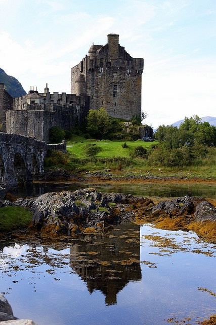 Reflecting on Eilean Donan... by *Michelle*(xena2542)-on/off flickr, via Flickr, Scotland