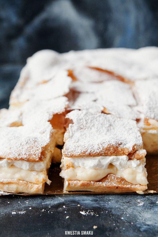 Polish Cream Cake. #food #cake #pastry #dessert