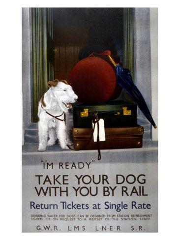Vintage Travel Poster - UK - Railway