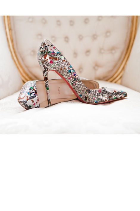 Let your toes do the talking with these wild pumps! #wedding #shoes