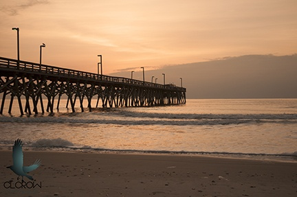 Sunrise at Surfside Pier in Surfside Beach, SC near Myrtle Beach. #photography #sunrise #piers