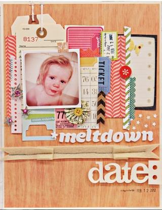 Studio Calico March Kit - Story Hour - Meltdown - Scrapbook.com by Jen Jockisch
