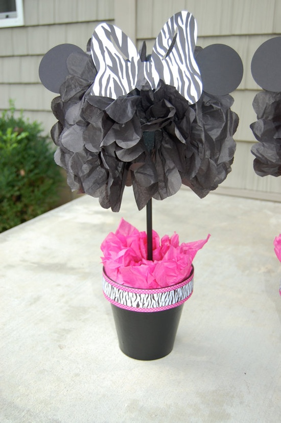 minnie mouse topiary pom