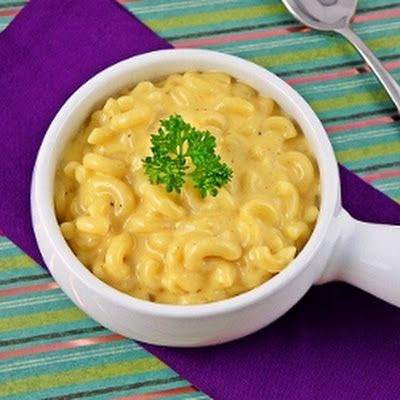 Outback Mac N' Cheese - JUST MADE IT SO GOOD! ((half of a PACKAGE of velveeta not 1/2 pound like recipe says))....this made it REALLY creamy. I like my mac and cheese to be a bit thicker so I might just use 1 cup of milk instead of 1 1/2 next time.