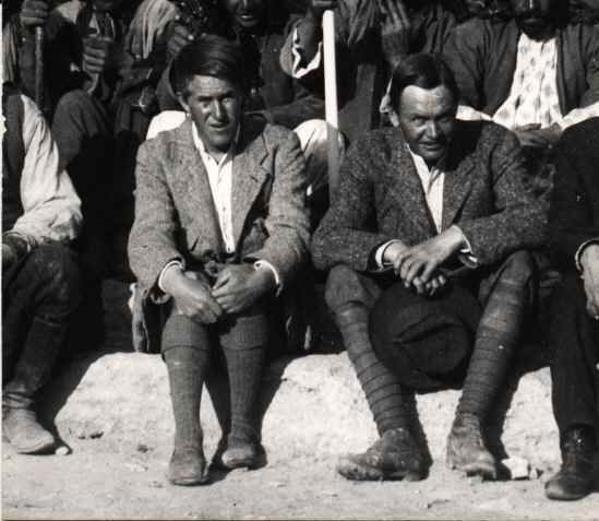Sir Leonard Woolley (right) and T.E.Lawrence at the British Museum's Excavations at Karkam?? (Carchemish), Spring 1913.