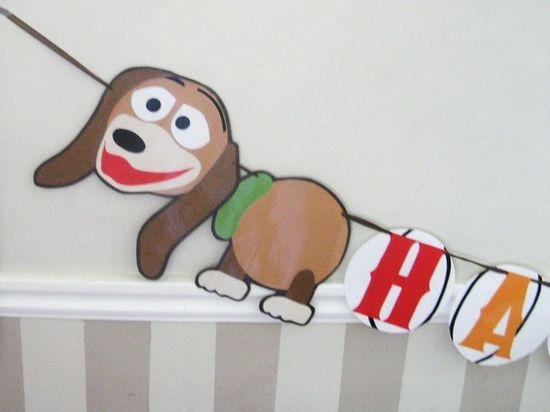 Toy Story -slinky birthday banner