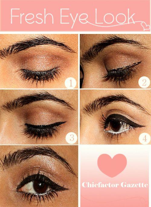 Fresh Eye Look diy diy ideas easy diy diy fashion diy makeup diy eye shadow diy tutorial diy picture tutorial