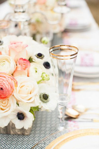 Such a pretty palette...Photography by summerstreetphotography.com/ Photography by deborahzoephoto.com/ Planning and Florals by whimevents.com/  Read more - www.stylemepretty...