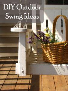 diy outdoor swing ideas