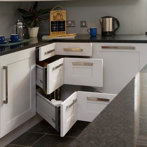 Corner drawers! #kitchen #PureBond #home #interior #decor
