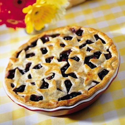 Star-studded Blueberry Pie