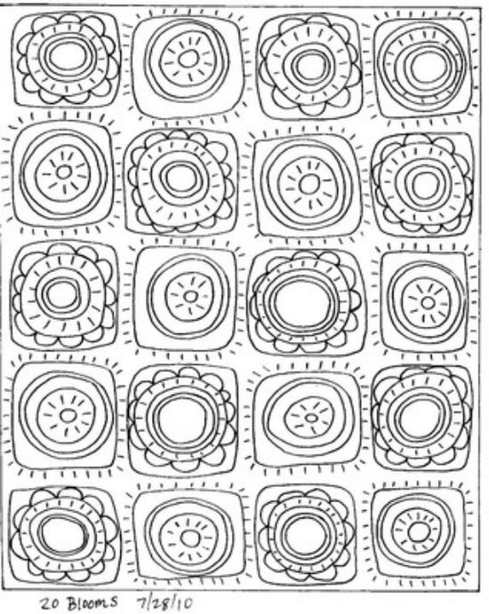 20 Blooms www.karlagerard.com/ would be fun to draw & color a page like this