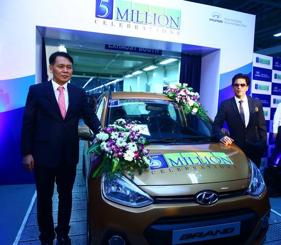 Hyundai Motor India rolls out its 5 Millionth car!  Newly launched Hyundai Grand rolled out to celebrate the occasion www.hyundai.com/...