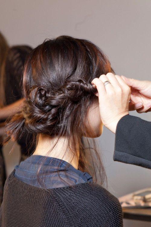 messy twisted braid