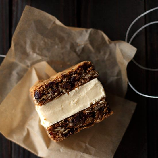 Oatmeal Cookie Ice Cream Sandwiches // More Frozen Desserts: www.foodandwine.c... #foodandwine