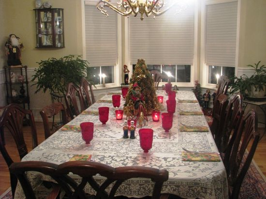 Christmas Dining Room Design