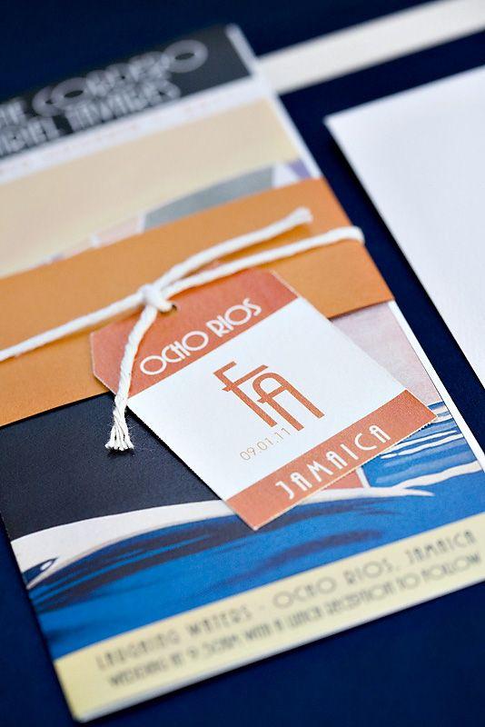 destination wedding invitations, cruise wedding invitations, ticket style weddin
