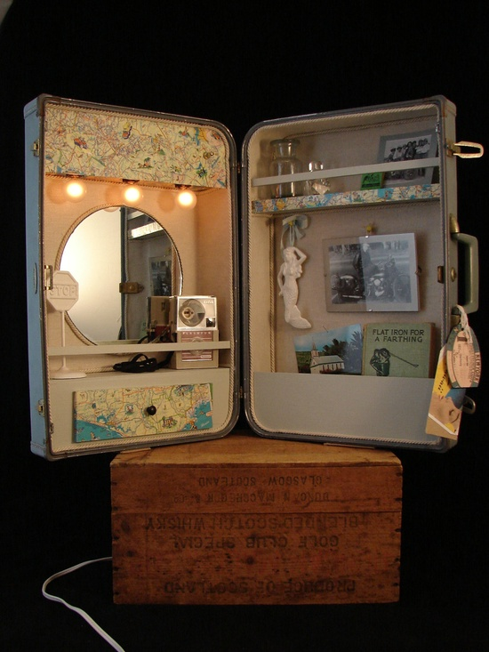 Upcycled Vintage Suitcase Cabinet (Custom Order Only, Please read description). $425.00, via Etsy.
