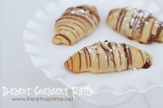 Dessert Crescent Rolls - {EASY recipe} #chocolate
