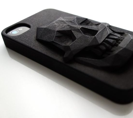 3D Printed Skull iPhone Case