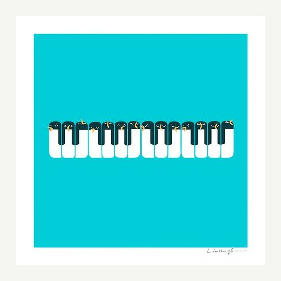 Very cute for a little's room. The Choir of Antarctica - Print $30