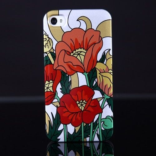 Coolest case for iPhone 4 4S with Flower Oil Painting Art Back Cover - slickfans.com (flower,art,painting,case,iphone 4,iphone 4 case,lady,girls,women,lovely)