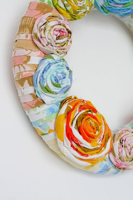 Vintage Wrapped Wreath