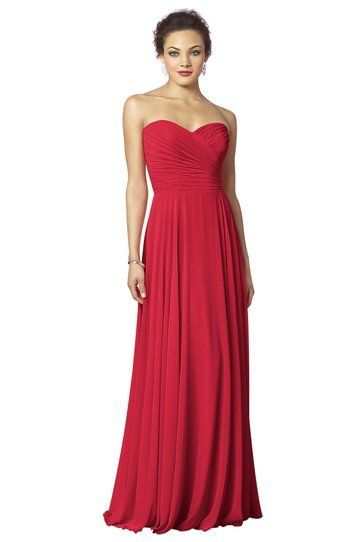 After Six 6639 bridesmaid dress in Flame from Weddington Way