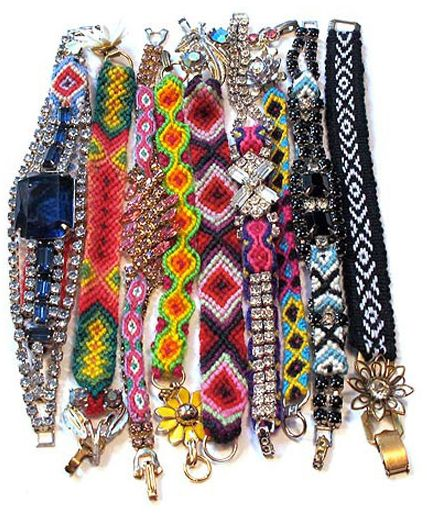 Fancy friendship bracelets.